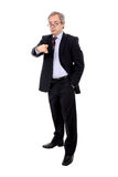 Mature business man pointing Stock Photography