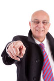 Mature business man pointing forward Stock Photos