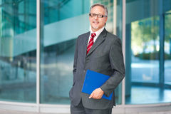 Mature business man portrait outdoor Stock Photo