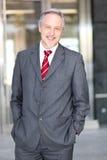 Mature business man portrait outdoor Stock Image