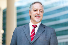 Mature business man portrait outdoor Royalty Free Stock Photos