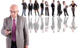 Mature business man posing Stock Image