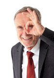 Mature business man with positive vision field Stock Images