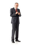 Mature business man with smartphone Stock Photo