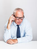 Mature business man Royalty Free Stock Image