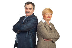 Mature business people Royalty Free Stock Photo