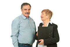 Mature business people talking Royalty Free Stock Photos