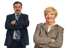 Mature business people team Royalty Free Stock Photography