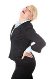 Mature business woman with backpain. Stock Photography
