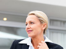 A mature business woman, looking away Stock Image