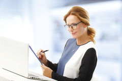 Mature business woman portrait Stock Image