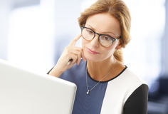 Mature business woman Stock Photography