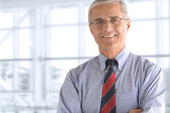 Mature Businessman Arms Crossed Closeup Royalty Free Stock Photo