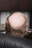 Mature businessman with bald head royalty free stock images