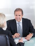 Mature businessman and businesswoman Royalty Free Stock Images
