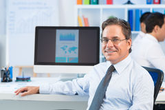 Mature businessman Royalty Free Stock Photo