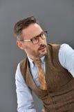 Mature businessman with eyeglasses Royalty Free Stock Photos