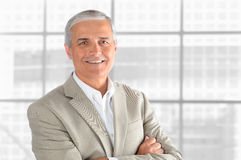 Mature Businessman in front of window. Royalty Free Stock Image