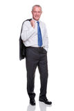 Mature businessman full length portrait Royalty Free Stock Photo