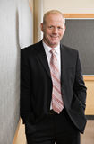 Mature businessman in full suit and tie stock photography