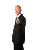 Mature businessman gesturing ok sign Royalty Free Stock Image