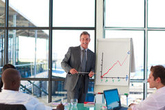 Mature businessman giving a presentation Royalty Free Stock Images