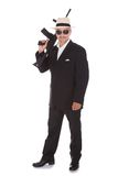 Mature Businessman Holding Gun Royalty Free Stock Image