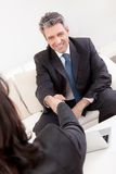 Mature businessman at the interview Stock Images