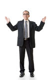 Mature businessman introduce Royalty Free Stock Photos