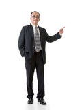 Mature businessman introduce Stock Image