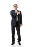 Mature businessman introduce Stock Photos