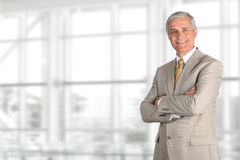 Mature Businessman Light Suit Stock Images