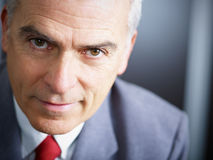 Mature businessman looking at camera Stock Photo
