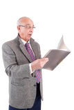 Mature Businessman looking at document Stock Photo