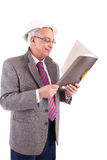 Mature Businessman looking at document Stock Photography