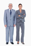 Mature businessman next to colleague Royalty Free Stock Images