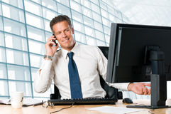 Mature businessman in office Stock Photo