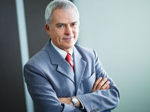 Mature businessman in office Stock Photos
