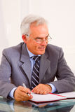 Mature businessman in office Stock Image