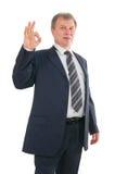 Mature businessman with ok sign Stock Photos