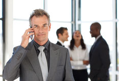 Mature businessman on phone Stock Photos