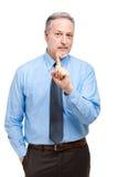 Mature businessman portrait having an idea Royalty Free Stock Photos
