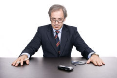 Mature businessman posing Stock Photography