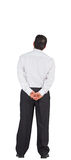 Mature businessman standing with hands on hips Royalty Free Stock Image