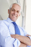 Mature Businessman Standing Outside Modern Office stock images