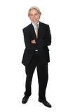 Mature businessman standing on white background Royalty Free Stock Images