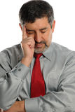 Mature Businessman stressed. On a white background Stock Photo