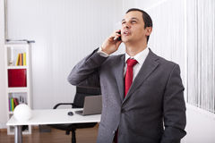 Mature businessman talking on the phone Stock Photo