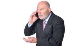Mature businessman talking on the phone Stock Image