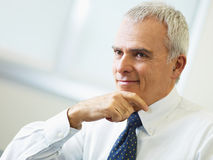 Mature businessman thinking Stock Images